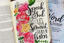 Bible Journaling / This Pin Board is for beautiful Bible Art. It's so inspiring and there are so many beautiful designs.