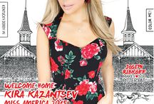 Miss America 2015 Kira Kazantsev in Nfocus Magazine / Check out Miss America 2015 Kira Kazantsev on the cover of the Kentucky Derby issue of Nfocus Louisville wearing styles by Joseph Ribkoff! http://issuu.com/southcomm/docs/binder2_0abc4a719953d8