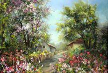 Les paysages peints