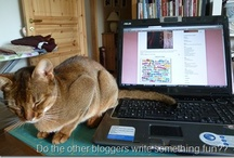 And a cat ... / Ever notice how many creative, office or other household spaces photographed for sharing on the web include a cat? Rarely deliberately placed by the human, it is like so unspoken arrangement by the World's cat population!