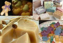 Saponette fatte con sapone scaglie o residui di altri saponi