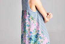 Knit Stripe Front Tail