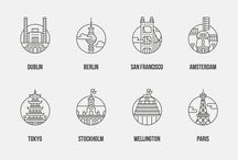 Destinations - illustrative styles