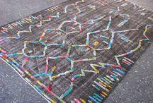 Turkish pompom rug