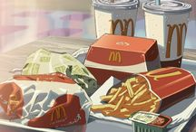 Anime backgrounds and food