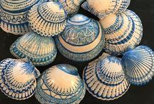 decoración conchas