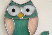 owl on a branch sun catcher