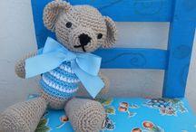 Osos para niños / Osos tejidos al crochet, ideal para la habitación de los niños. Su ropita es a elección! www.sofiasimagona.com