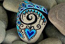 DIY - ideeën, gekleurde keien - stenen