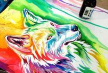 kresby/maľby