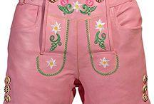 Damen Tracten Lederhose / Stilvolle Kollektion Damen trachten Lederhosen und kurz