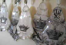 Chandelier Crystals Repurposed