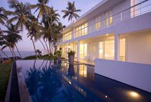 White Villa, Balapitiya / The White Villa is a modern, five bedroomed beach villa set on a hillock overlooking a picturesque stretch of beach in Balapitiya, just south of Bentota, on Sri Lanka's west coast. Large glass windows provide uninterrupted sea views.