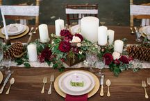"Winter wedding decoration ""red"""