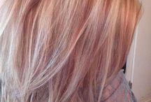 Couleur cheveux: rose gold et couleurs vives