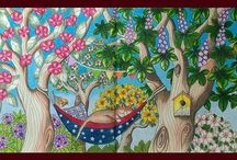 Maria Trolle Twilight Garden Skymnings Timman  Vivi Soker En Van Malarbok Blomster Mandala