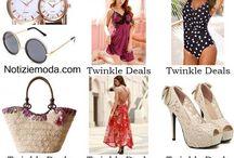 Twinkle Deals / Twinkle Deals collezione e catalogo primavera estate e autunno inverno abiti abbigliamento accessori scarpe borse sfilata donna.