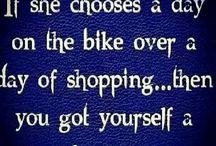 Biker Lady... Ladies like bikes too!!