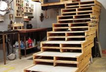 Pallet Stairs / Pallet wood stairs design and diy pallet stairs ideas for your home.