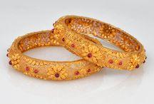 gold bangles and bracelet