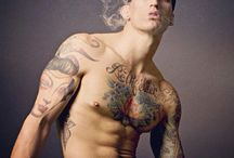 Tattoed Men / Beautiful man with tatoos...  Find more at: http://www.welovebeauties.com/tattoo-men/