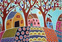 tableaux colorés