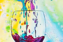 Wine Art Paintings by Jen Callahan