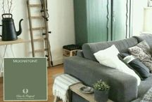 GREEN-vintage distressed chippy furnitures