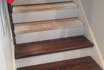 staircase to hardwood