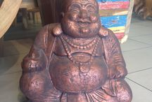 Buddha Love and more / Great for indoors and outdoors! Concrete moldings to wooden carvings. #decorations #buddha