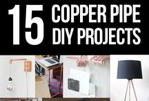 Steel & copper pipe DIY ideas