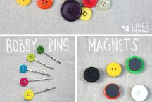 button ideas and crafts / fun ways to use buttons