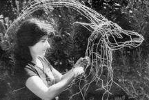 Wire sculptures