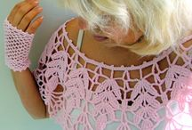 *CROCHET EDGE TRIMS / Here you will find how to take say just a piece of fabric you haven't got enough of to make a top OR a favorite top you already have and how to re-fashion it. These ideas are very inspiring and motivation... A lot of them are crocheted (because that's what I do) but you could use fabric just the same or knit if you like. ENJOY the process ~!~