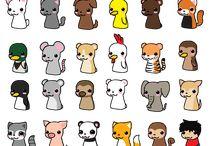 chibi animals
