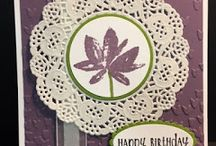 Avant Gardens stamp,doily ,purple embossed with hearts