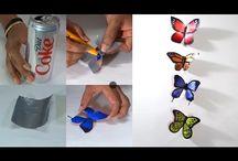 Coke can butterfly