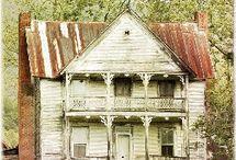 derelict houses