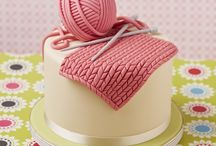 torta con diseño de costura