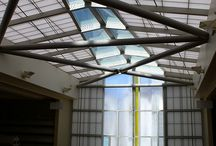 Awnings and Skylights / Think of awnings and skylights as the accessories to the exterior of your home. Bring natural light into your home with textured cast glass without sacrificing privacy.