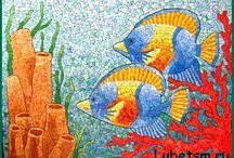 Мои работы - Мозаика из яичной скорлупы / Работы выполненные мною - из яичной скорлупы.