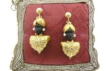Our Blackamoors earrings and pendants / Handmade ebony earrings