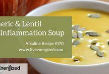 Anti-inflammatory soup turmeric lentil