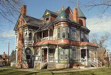 Victorianske pragtfulde huse
