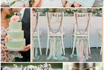 I said YES! / My classy yet shabby, chic budget little bit country outdoor WEDDING! Colors: mint, peach, & gold.  / by Lola & Co - Home and Wedding Decor