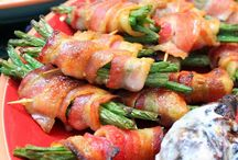 Vegetables / Bacon Wrapped Beans