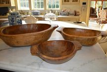 ANTIQUE DOUGH BOWLS / by The Enchanted Home