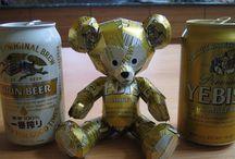 Aluminum Can Crafts / juomatölkeistä askartelu