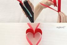 kağıttan kalp yapımı