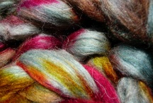 Fiber and Yarn Photography / I've been dyeing and photographing yarn and fiber for PortFiber on Etsy for four years now, and over that period have taken some pictures that I love.  I like taking pictures of yarn and fiber, because the colors, texture, and shine are hard to find anywhere else.  It's bliss!